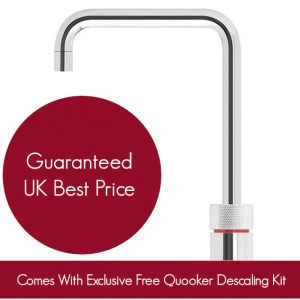 Quooker 2.2NSRVS COMBI 2.2 Nordic Square Tap – Stainless Steel With COMBI Tank