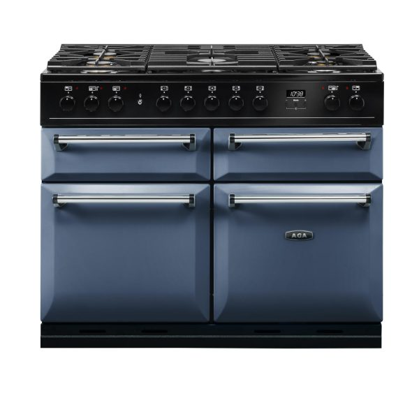 AGA MDX110DFDB Masterchef Deluxe 110cm Dual Fuel Range Cooker Dartmouth Blue