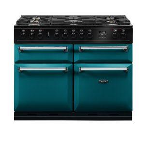 AGA MDX110DFSAL Masterchef Deluxe 110cm Dual Fuel Range Cooker Salcombe Blue