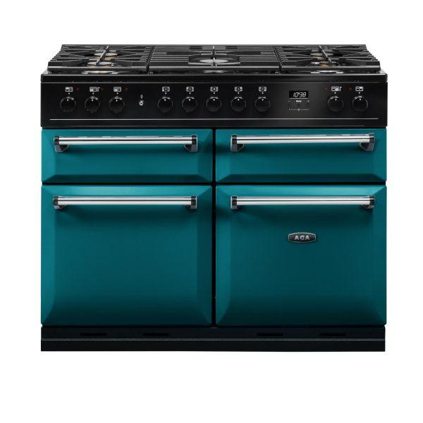 AGA MDX110DFSB Masterchef Deluxe 110cm Dual Fuel Range Cooker Salcombe Blue