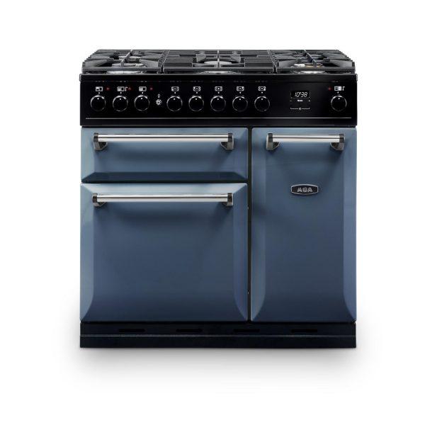 AGA MDX90DFDB Masterchef Deluxe 90cm Dual Fuel Range Cooker Dartmouth Blue