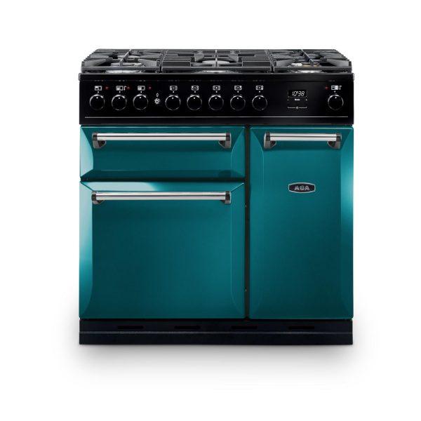 AGA MDX90DFSB Masterchef Deluxe 90cm Dual Fuel Range Cooker Salcombe Blue