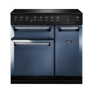 AGA MDX90EIDAR Masterchef Deluxe 90cm Induction Range Cooker Dartmouth Blue