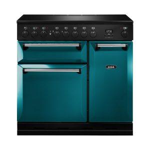 AGA MDX90EISAL Masterchef Deluxe 90cm Induction Range Cooker Salcombe Blue