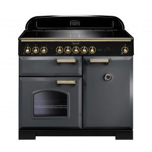 Rangemaster CDL100EISL/B Classic Deluxe 100 Induction Range Cooker – Slate & Brass