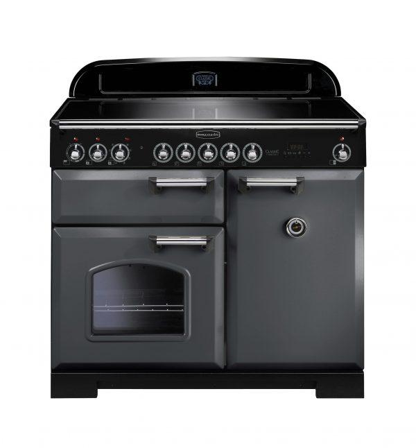 Rangemaster CDL100EISL/C Classic Deluxe 100 Induction Range Cooker – Slate & Chrome