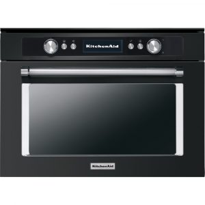 KitchenAid KOQCXB 45600 45cm Combination Steam Oven – Black Steel – Ex-Display