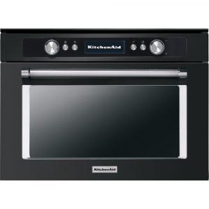 KitchenAid KOQCXB 45600 45cm Combination Steam Oven – Black Steel – Ex-Display Clearance
