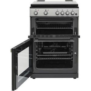 Belling FSDF608DSIL 60cm Duel Fuel Cooker – Double Oven – Silver – AA Rated