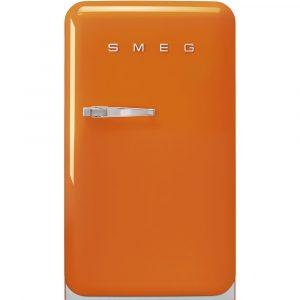 Smeg FAB10ROR2 50s Retro Style Aesthetic 50s Orange Fridge with ice compartment, Right hand hinge