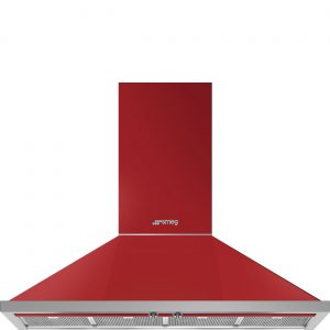 Smeg KPF12RD Portofino 120cm Red Chimney Hood