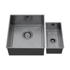 1810 AXIXUNO SET B – 355U & 150U SHORT HALF BOWL GUNMETAL Sink