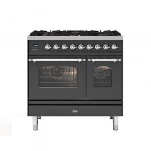 ILVE  90cm Milano 6 Burner Double Oven Dual Fuel Range Cooker