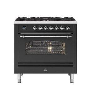 ILVE  90cm Milano 6 Burner Single Oven Dual Fuel Range Cooker