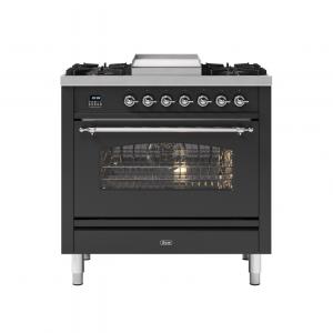 ILVE  90cm Milano Fry Top Single Oven Dual Fuel Range Cooker