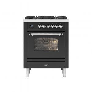 ILVE  70cm Milano 4 Burner Single Oven Dual Fuel Range Cooker