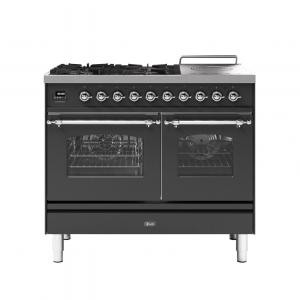 ILVE  100cm Milano Coup de Feu Double Oven Dual Fuel Range Cooker
