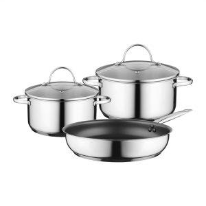 Siemens Cookware set HZ9SE030 Set of 2 pots + 1 pan for induction hobs