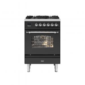 ILVE  60cm Milano 4 Burner Single Oven Dual Fuel Range Cooker