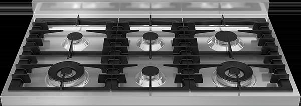 Gas hotplate – six aluminium burners