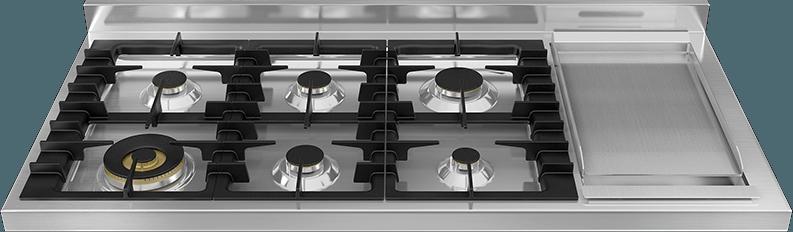 Gas hotplate – six brass burners