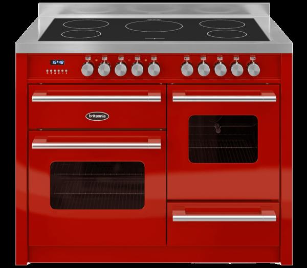 Britannia Delphi 110cm XG Range Cooker Induction in Red