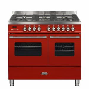 Britannia Delphi 100cm twin Range Cooker Duel Fuel Red
