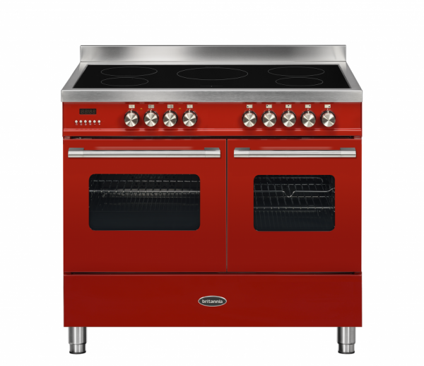 Britannia Delphi 100cm twin Range Cooker Induction in Red