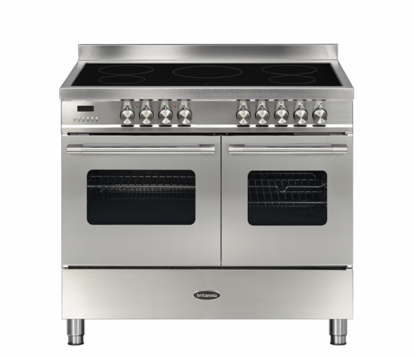 Britannia Delphi 100cm twin Range Cooker Induction in Stainless Steel