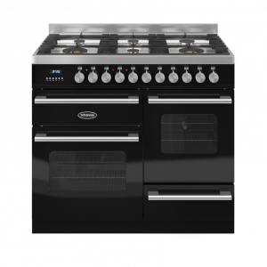 Britannia Delphi 100cm XG Range Cooker Dual Fuel Gloss Black