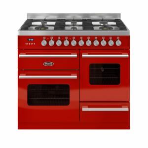 Britannia Delphi 100cm XG Range Cooker Dual Fuel in Red