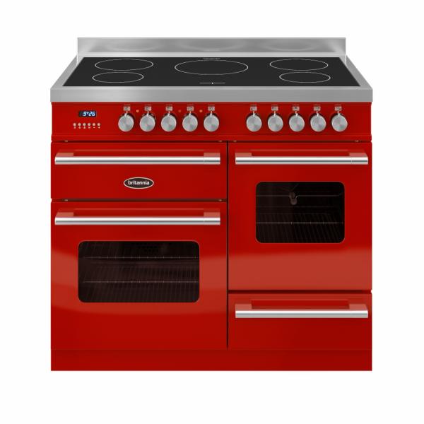 Britannia Delphi 100cm XG Range Cooker Induction in Red
