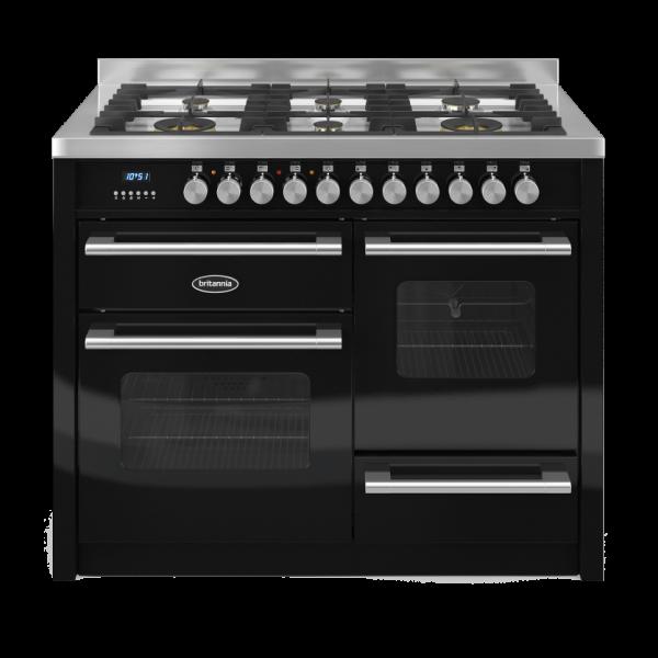 Britannia Delphi 110cm XG Range Cooker Dual Fuel in Gloss Black