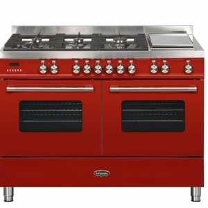 Britannia Delphi 120cm twin Range Cooker Dual Fuel in Red