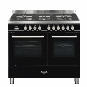 Britannia Q Line 100cm twin Range Cooker Dual Fuel in Gloss Black