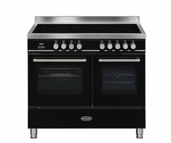 Britannia Q Line 100cm twin Range Cooker Induction in Gloss Black