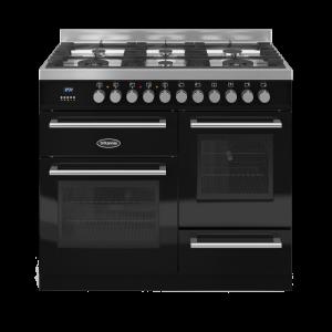 Britannia Q Line 100cm XG Range Cooker Dual Fuel in Gloss Black