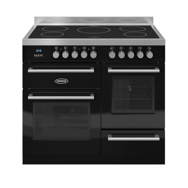 Britannia Q Line 100cm XG Range Cooker Induction in Gloss Black