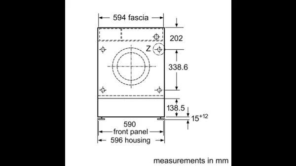 Siemens WI14W500GB front line drawing