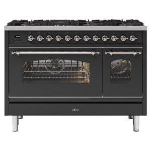 Ilve P128NE3MG 120cm Milano Dual Fuel Range Cooker In Matt Graphite