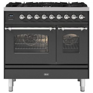 Ilve PD096NE3MG 90cm Milano Dual Fuel Twin Oven Range Cooker In Matt Graphite