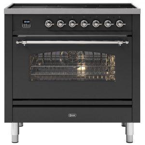 Ilve PI09NE3MG 90cm Milano Induction Single Oven Range Cooker In Matt Graphite