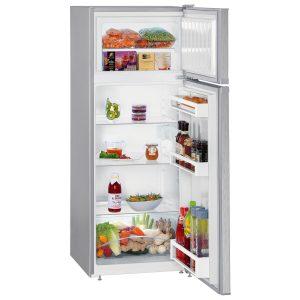 Liebherr CTel 2531 55cm Silver Fridge-freezer with freezer above and SmartFrost