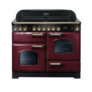 Rangemaster CDL110ECCY/B Classic Deluxe 110 Ceramic Range Cooker Cranberry & Brass